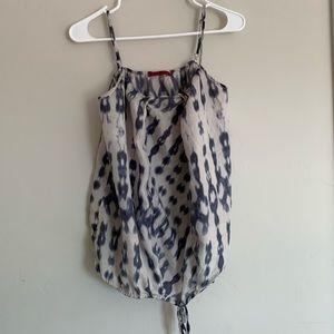Velvet silk blouse
